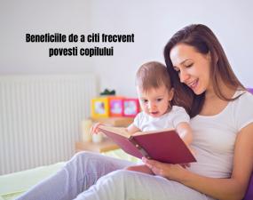 Beneficiile de a citi frecvent povesti copilului